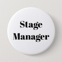 Teacher Student Stage Manager Pin Button