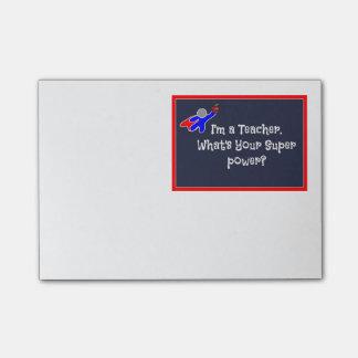 Teacher Super Hero  Post-it® Notes 4 x 3
