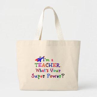 Teacher Superhero Jumbo Tote Bag