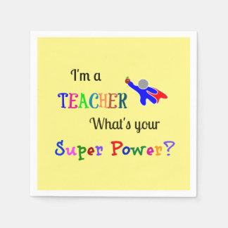 Teacher Superhero Napkin