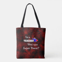 Teacher Superhero Tote Bag