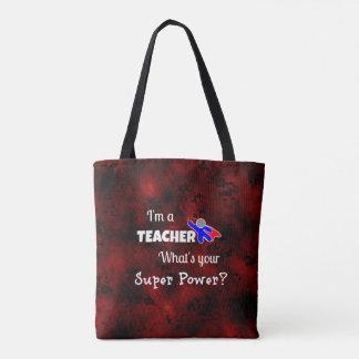 Teacher Superhero Tote Bag