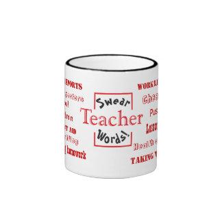 Teacher Swear Words! Teaching Joke Ringer Coffee Mug
