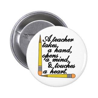 Teacher Takes 2 Inch Round Button