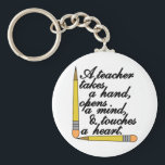 "Teacher Takes Keychain<br><div class=""desc"">If you have great teacher you are in takes hand</div>"