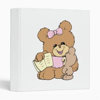 teacher teaching baby teddy bear design 3 ring binder