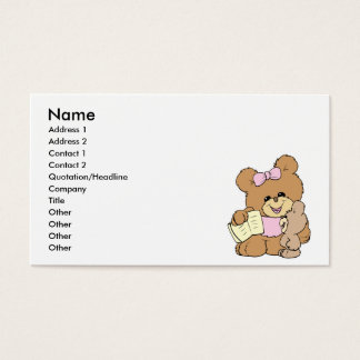teacher teaching baby teddy bear design business card
