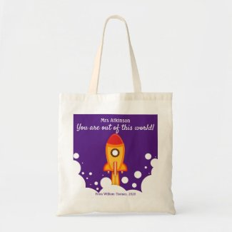 Teacher Thank You Appreciation Personalized Tote Bag
