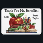 """Teacher Thank You Magnet<br><div class=""""desc"""">This is cool enough to be stuck on the best refrigerators or school whiteboards ... : ) ... and when it is, it&#39;s a daily memory. Zazzle offers quantity discounts ... : ) Have fun with it. Make it your own. That&#39;s what Zazzle is all about. Enjoy, thank you, and...</div>"""