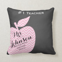Teacher Thank you pillow star chevron chalk