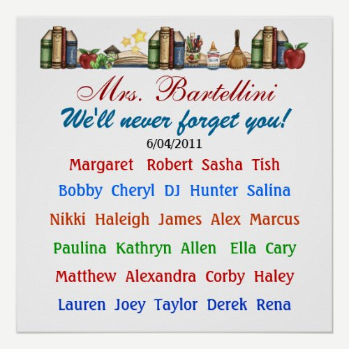 Teacher Thank You Poster -  SRF