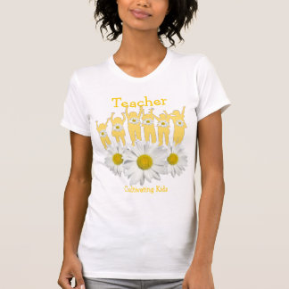 Teacher Thank You Shirt with Kids and Daisies