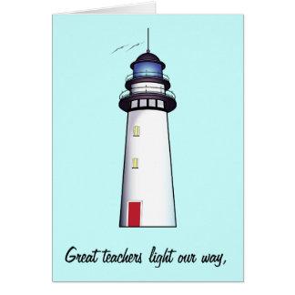 Teacher Thank You with Lighthouse Card