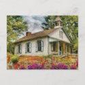 Teacher - The School House postcard