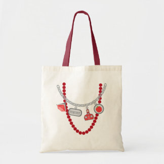 Teacher Trompe L'Oeil Charm Necklace & Beads Tote Bag