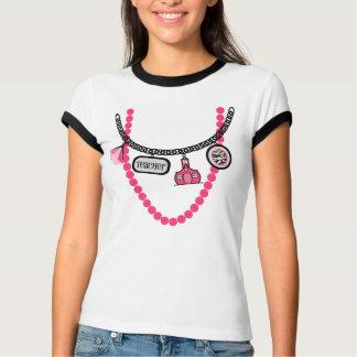 Teacher Trompe L'oeil Shirt - Hot Pink & Black