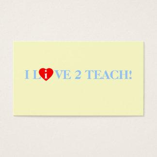 Teacher Tutor I Live Love To Teach Heart Template Business Card