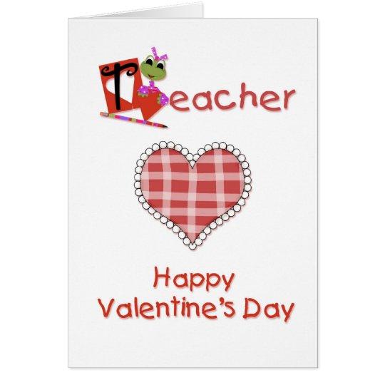 Teacher Valentine Card