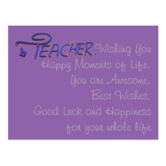 Teacher Wishing You Happy Moments Postcard