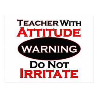 Teacher With Attitude Postcard