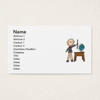 Teacher With Globe Business Card
