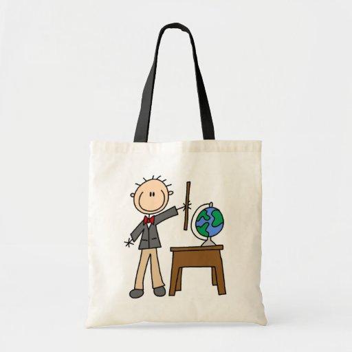 Teacher With Globe Tote Bag