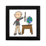 Teacher With Globe Trinket Boxes