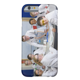 Teacher with his science class, all pupils barely there iPhone 6 case