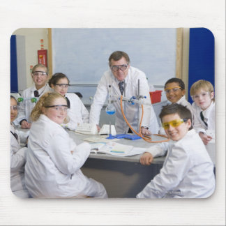 Teacher with his science class, all pupils mouse pad