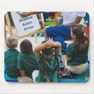 Teacher with preschool students in classroom mouse pad