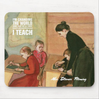 Teacher with students. Fine Art Gift Mousepads
