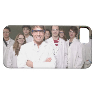 Teacher with students in science class iPhone SE/5/5s case