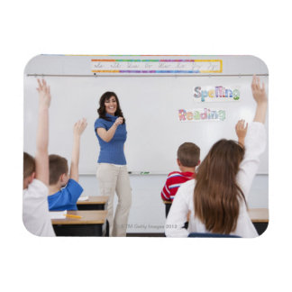 Teacher with students magnet