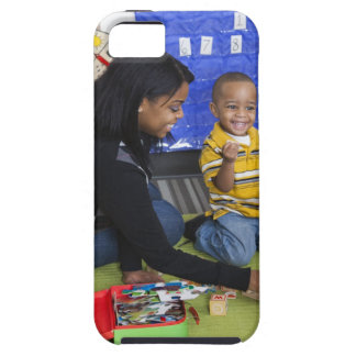Teacher with toddler in daycare iPhone 5 case