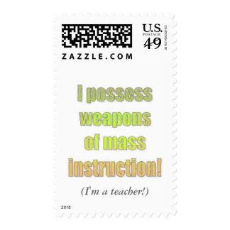 Teacher WMI Postage Stamp