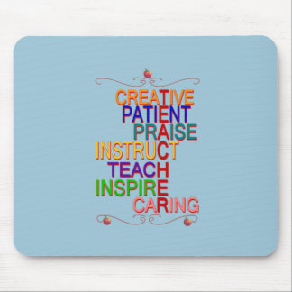 Teacher Word Cloud Gift school picture Mouse Pad