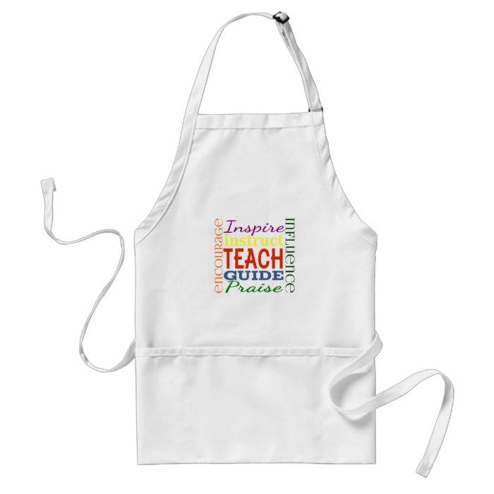 Teacher Word Picture Teachers School Kids Adult Apron