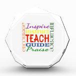 Teacher Word Picture Teachers School Kids Acrylic Award