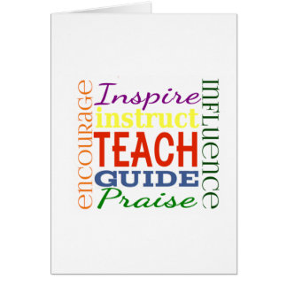 Teacher Word Picture Teachers School Kids Card