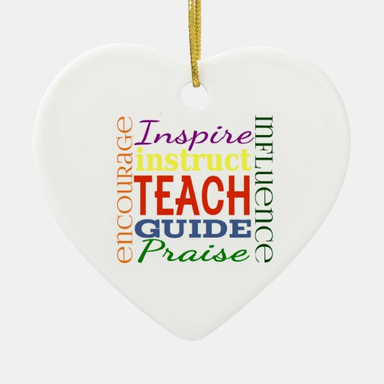 Teacher Word Picture Teachers School Kids Ceramic Ornament