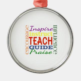 Teacher Word Picture Teachers School Kids Metal Ornament