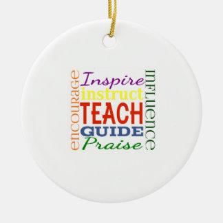 Teacher Word Picture Teachers School Kids Christmas Tree Ornaments