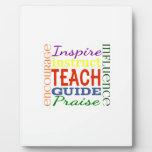 Teacher Word Picture Teachers School Kids Display Plaque
