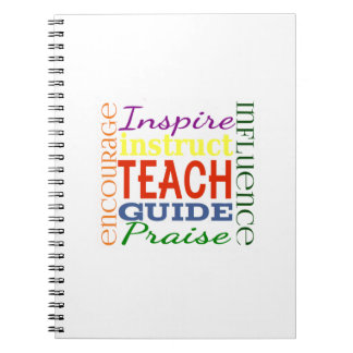 Teacher Word Picture Teachers School Kids Spiral Notebook