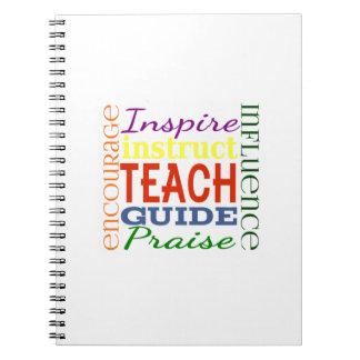 Teacher Word Picture Teachers School Kids Spiral Notebook