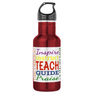 Teacher Word Picture Teachers School Kids Stainless Steel Water Bottle