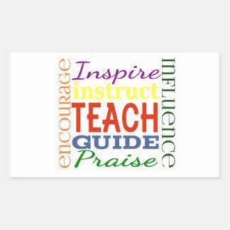 Teacher Word Picture Teachers School Kids Rectangular Sticker