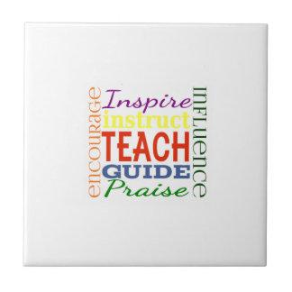 Teacher Word Picture Teachers School Kids Tile
