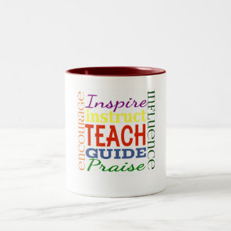Teacher Word Picture Teachers School Kids Two-Tone Coffee Mug