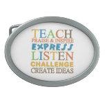 Teacher Words To Live Byy Belt Buckles